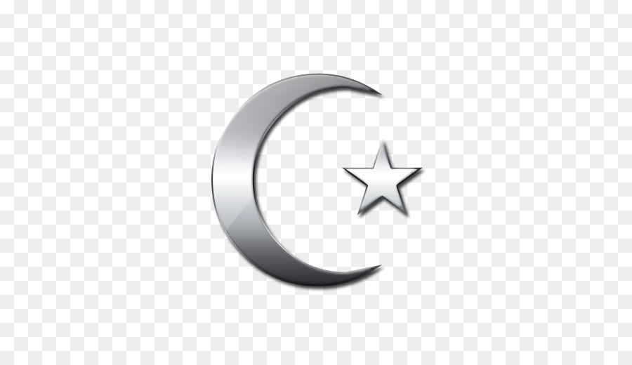Negativity Removal Symbol Silver Crescent Moon And Star Png