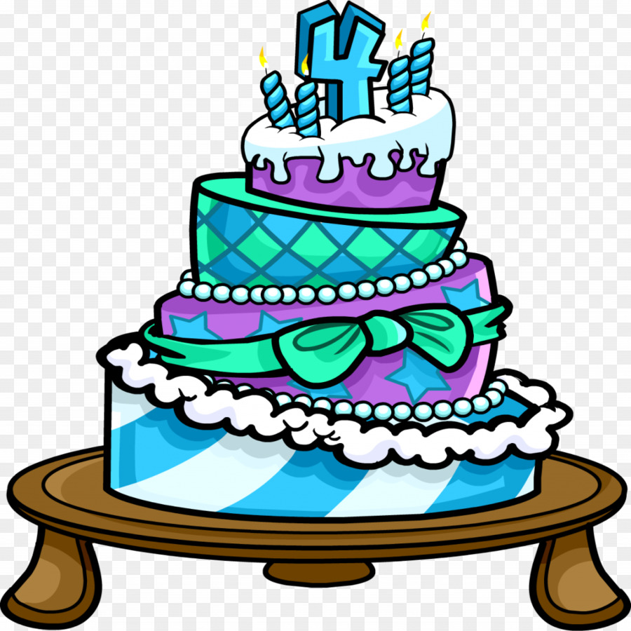 Club Penguin Birthday Cake Clip Art Cake Png Download 10241024