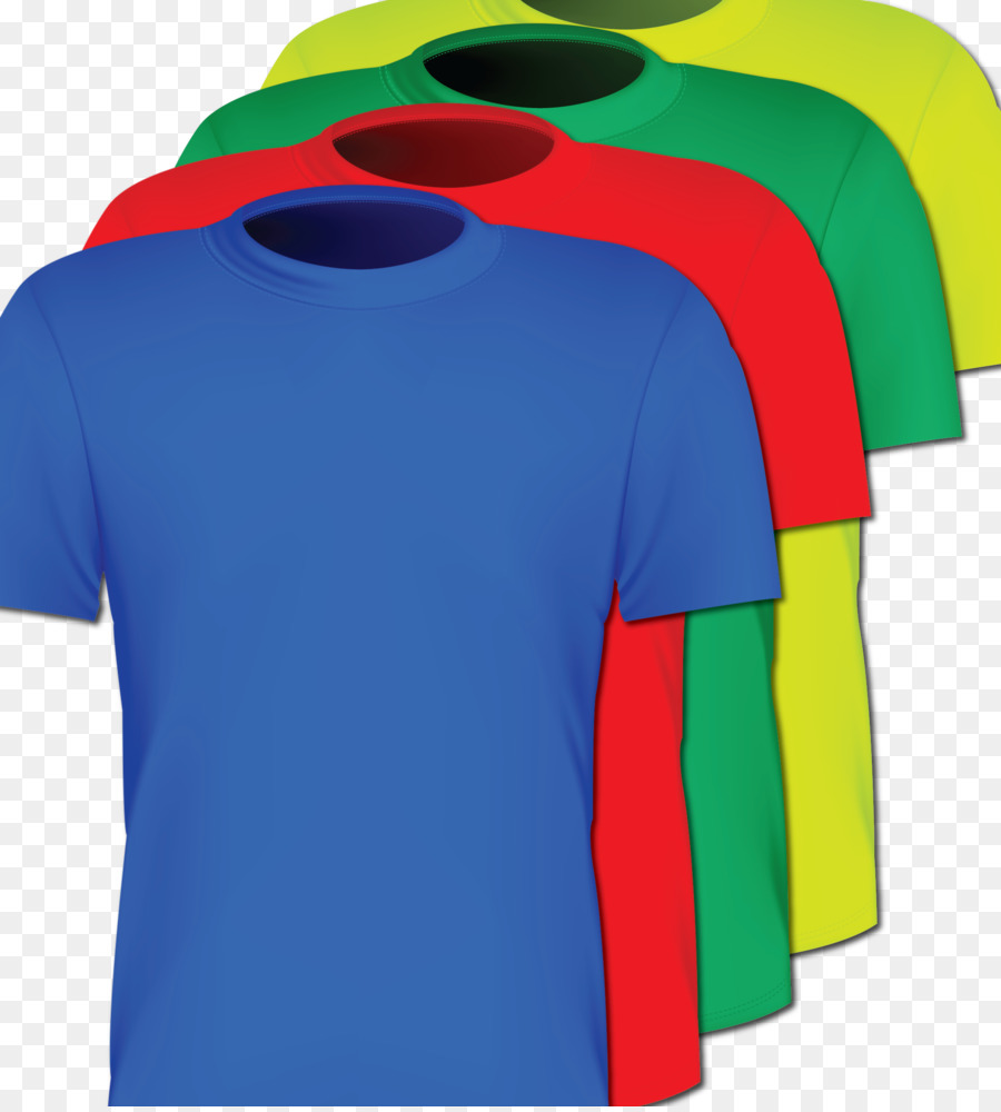 T Shirt Red Sleeve Blue Green T Shirts Png Download 19002100