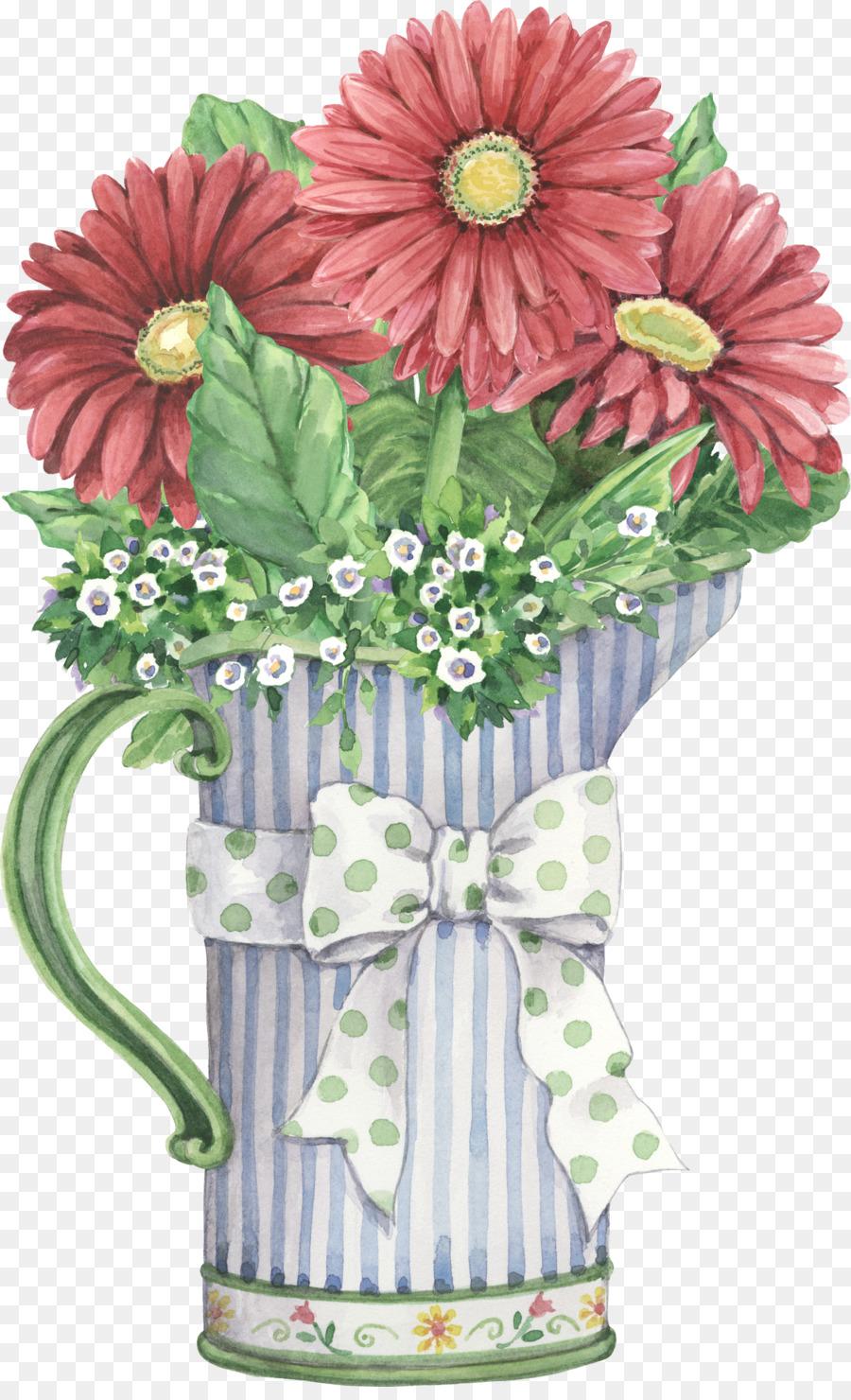 Flower Vase Painting Clip art - bouquet of flowers png ...