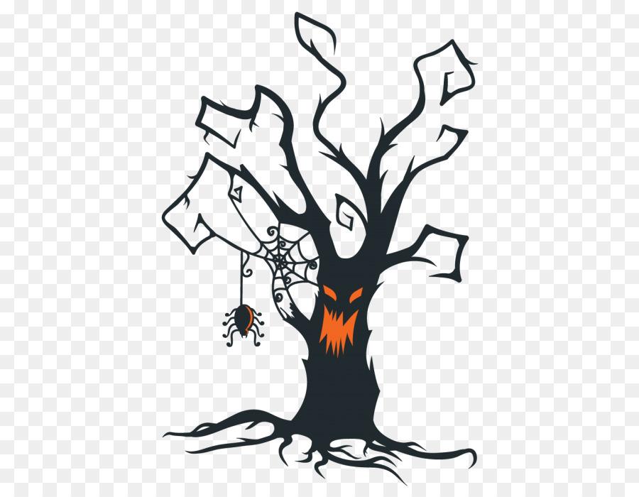the halloween tree clip art creepy tree png download 700 700