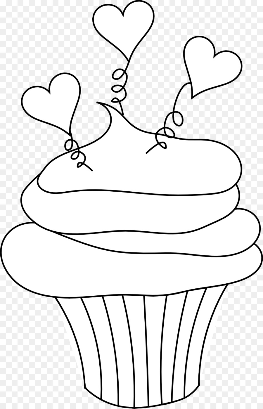 Cupcake Frosting & Icing Red velvet cake Muffin Coloring book ...