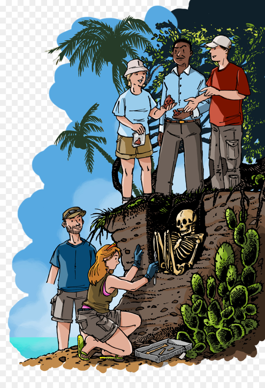 Cartoon Comics Field research Anthropology Clip art - Field Work Cliparts  png download - 3507*5078 - Free Transparent Cartoon png Download.