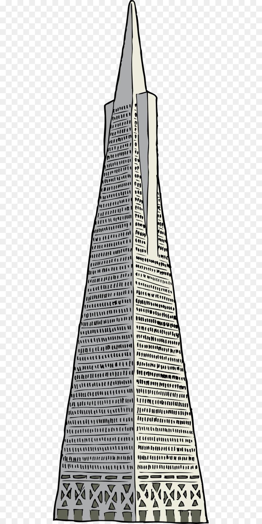 Transamerica Pyramid la Construcción de Rascacielos Clip art ...