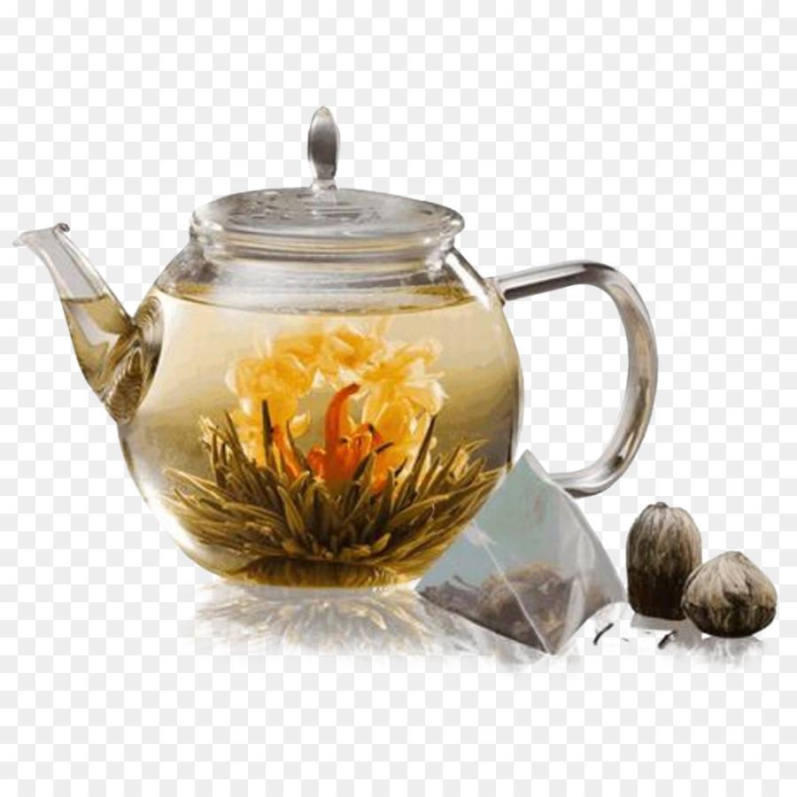 Flowering Tea White Tea Teapot Tea Set Tea Png Download 1000