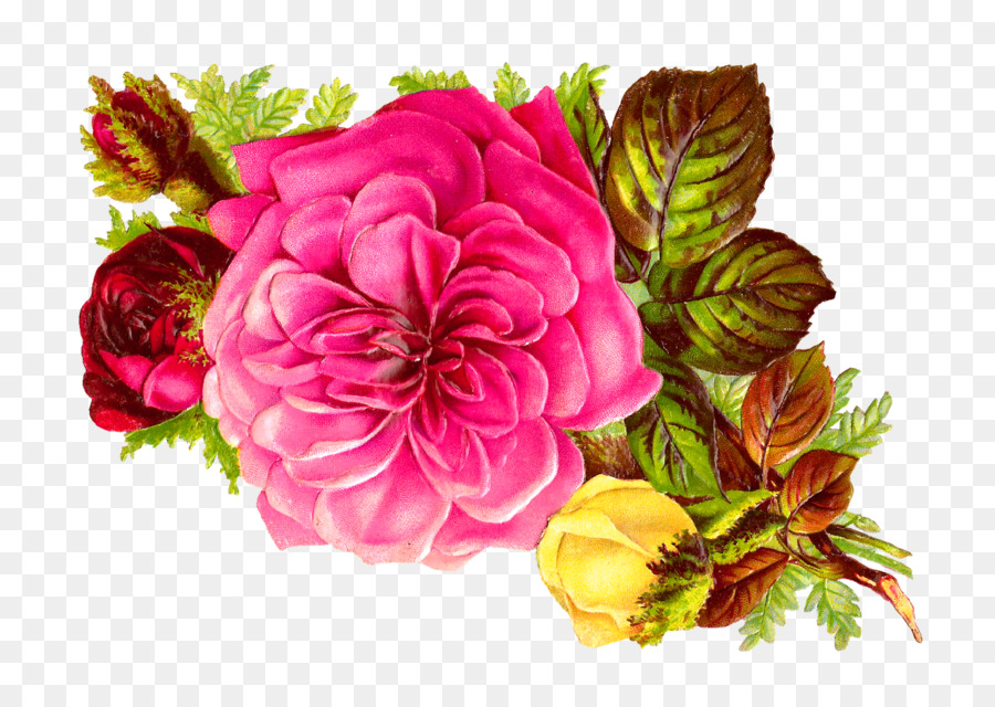 Flower bouquet Rose Pink Clip art - bouquet of flowers png download ...