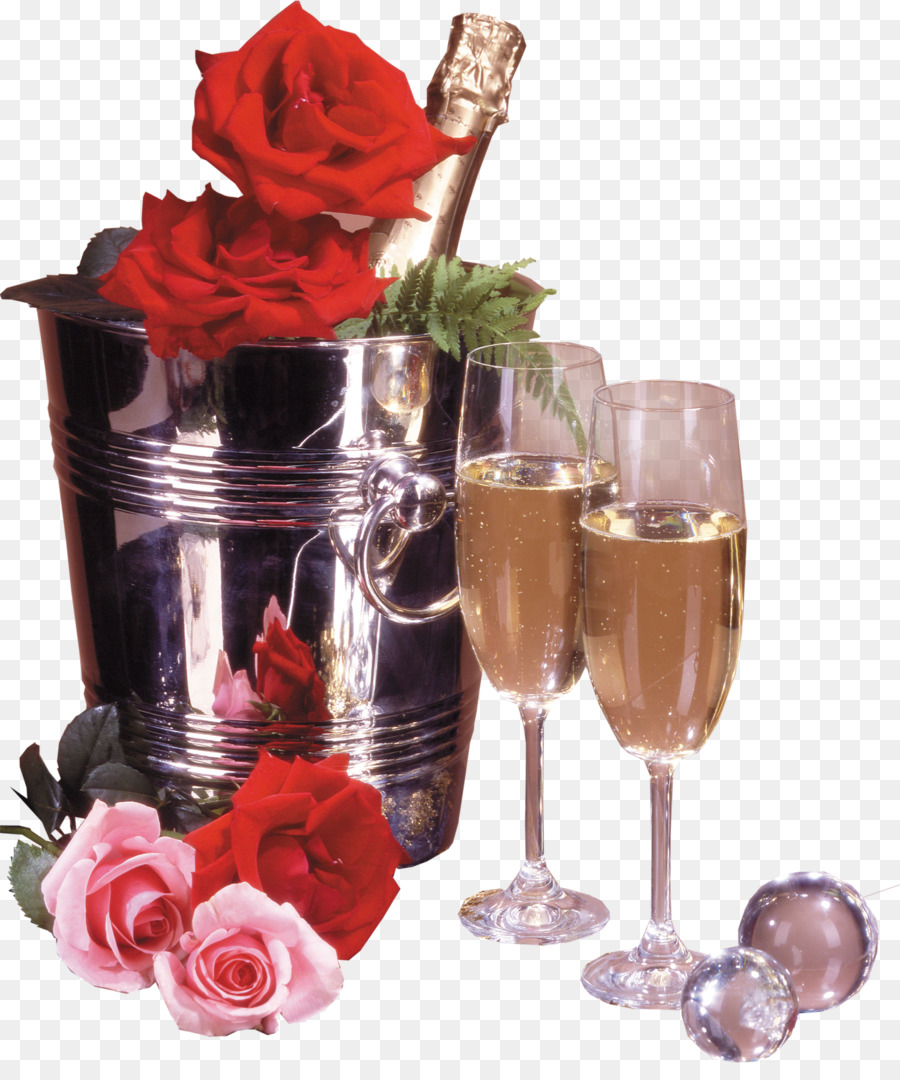 Happy Birthday To You Wish Flower Bouquet Party Champagne Png