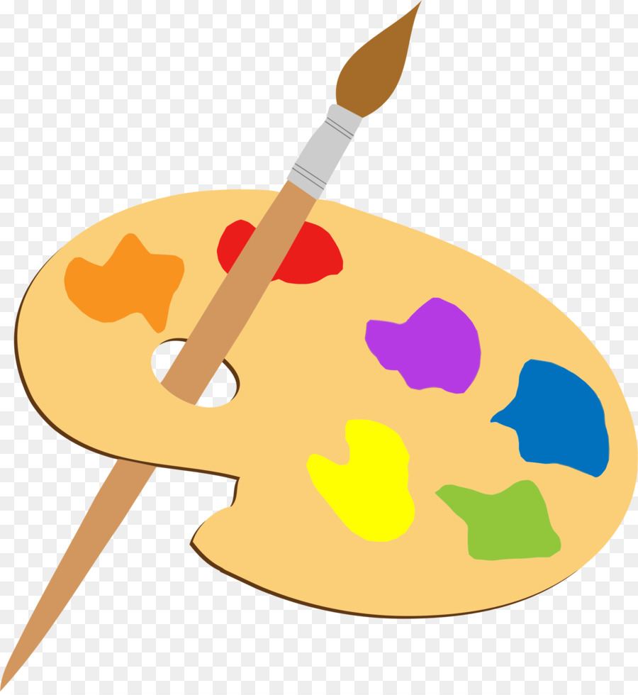 palette art painting paintbrush clip art brushes png download
