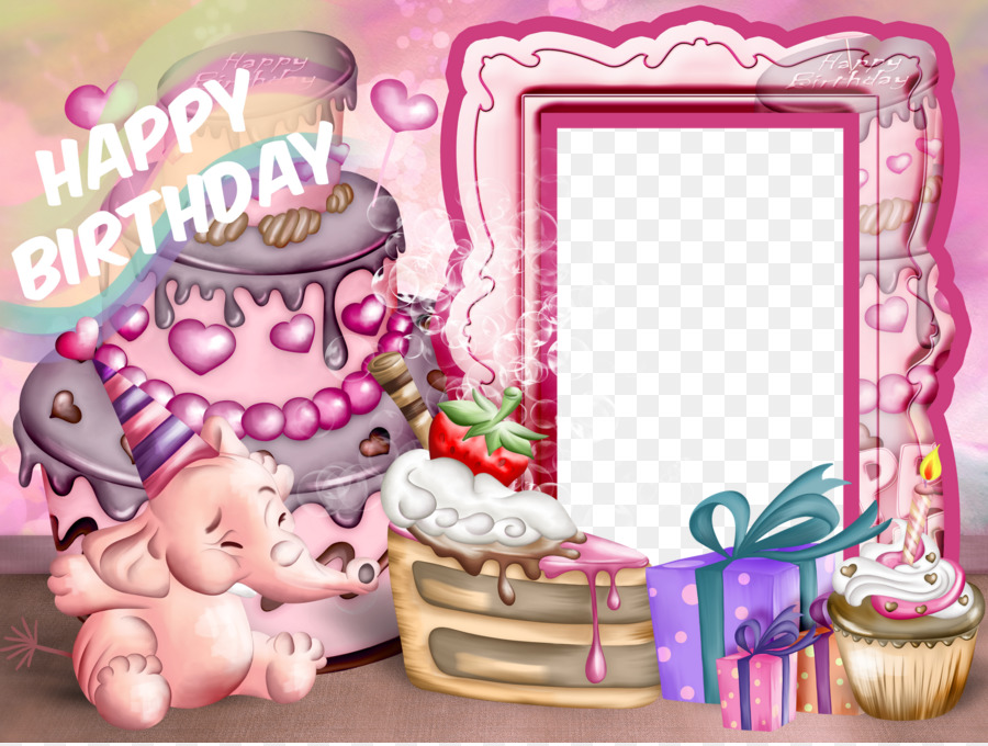 Birthday Picture Frames Child Party Clip art - Birthday Frame png ...