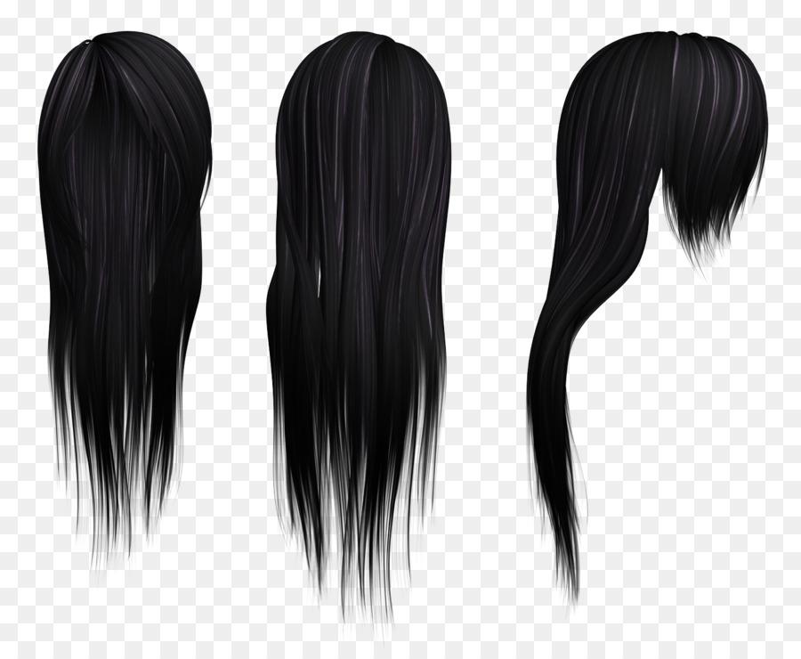 Human Hair Color Wig Black Hair Hairstyle Hair Png Download 1495