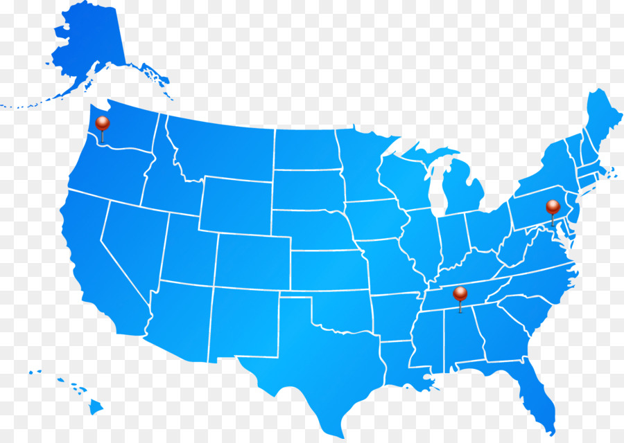 United States Map Blue Clip art - usa gerb png download - 2227*1570 ...