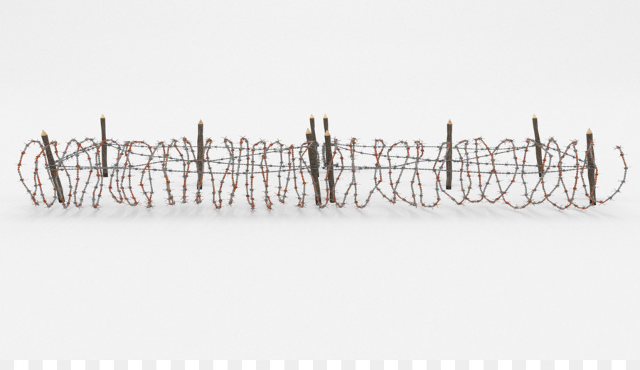 Barbed wire Fence Wire obstacle 3D modeling - barbwire png download ...