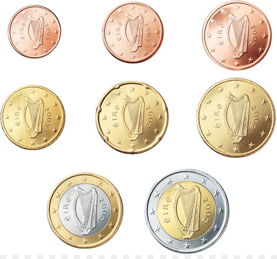 Irland Euro Münzen Und 2 Euro Münze Euro Png Herunterladen 1276