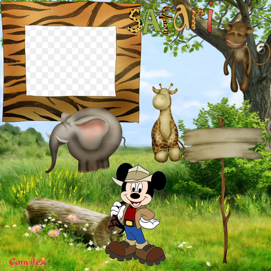 Mickey Mouse Minnie Mouse Safari Picture Frames - safari png ...
