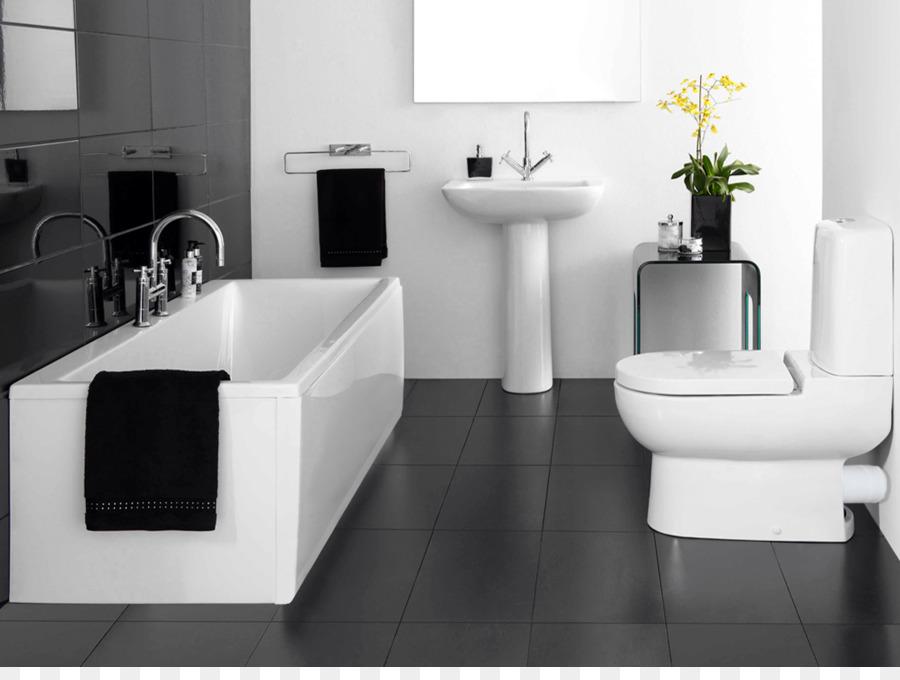 Badezimmer Fliesen Schwarz und weiß - Badewanne png herunterladen ...