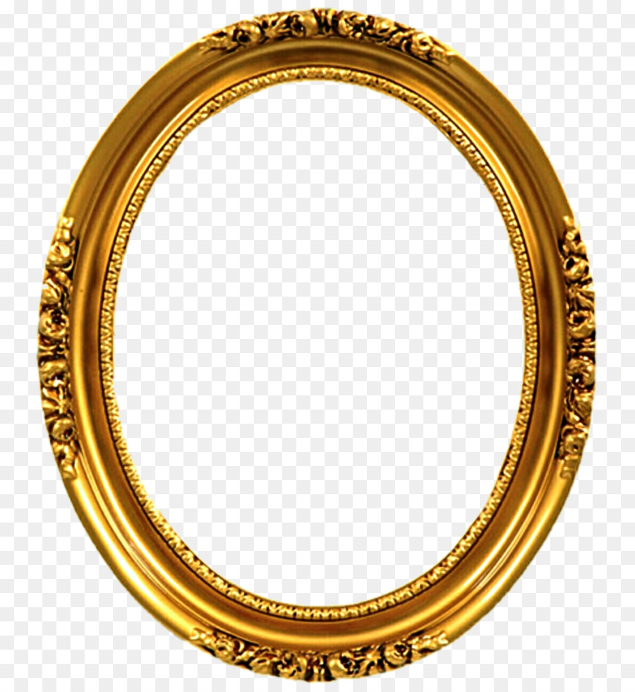 Picture Frames Gold Oval Decorative arts Ornament - mirror png ...