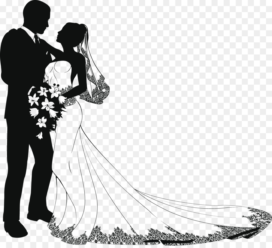 Wedding Drawing Bride Clip art - groom png download - 2500 ...