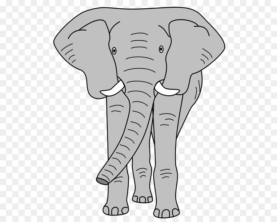 Clip Art Cartoon Animal Faces Elephant Grayscale I Abcteach Com Preview 1