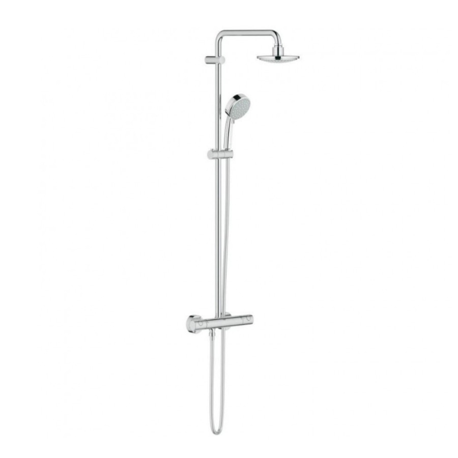 Bathroom Shower Grohe Thermostatic mixing valve Tap - shower png ...