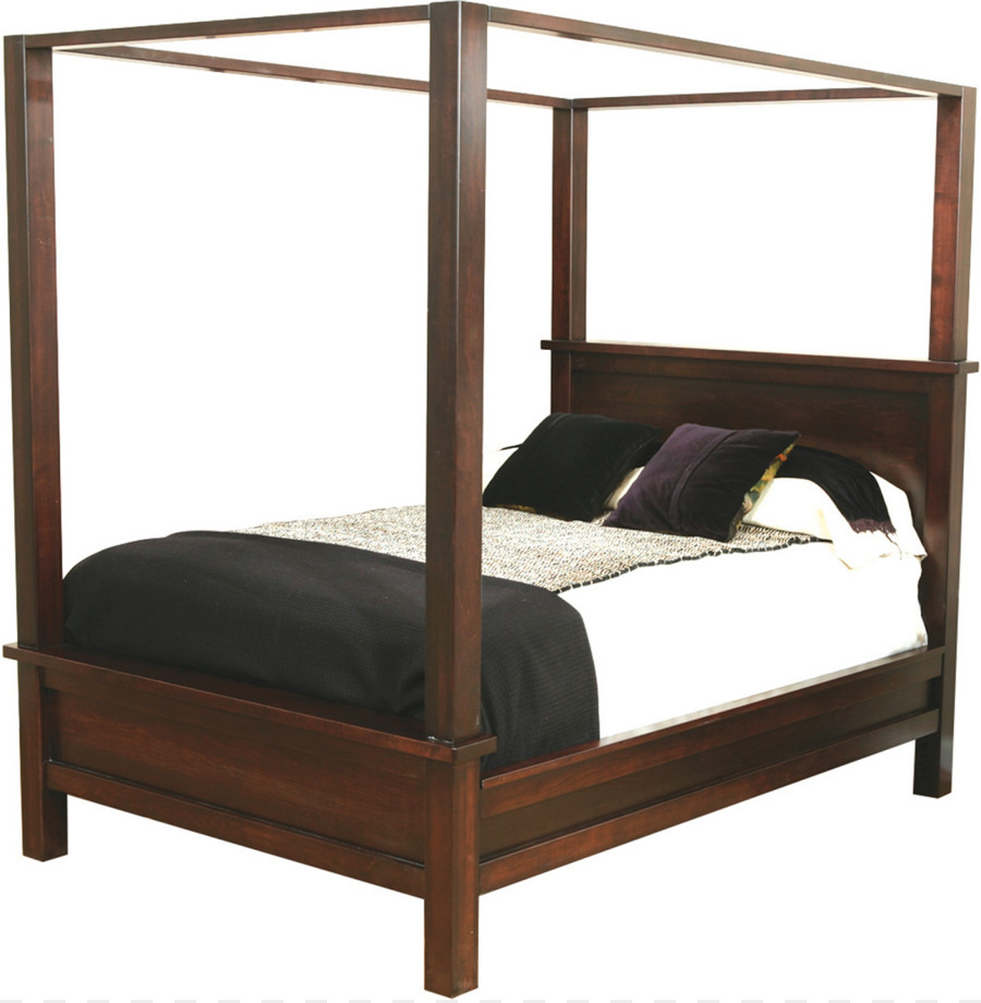 Conjuntos de Muebles de dormitorio Cama de tamaño de cama con Dosel ...