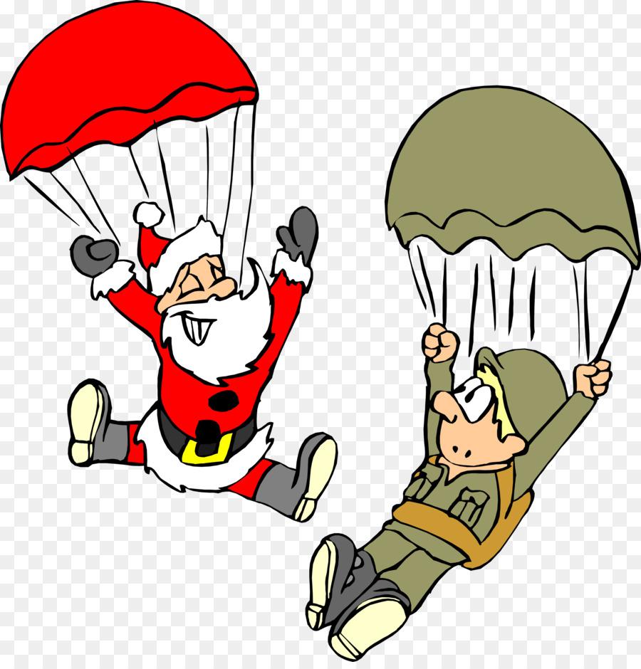 Santa Claus Wedding invitation Christmas card Military - parachute ...