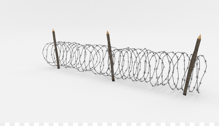 Barbed wire Fence Wire obstacle 3D computer graphics - barbwire png ...