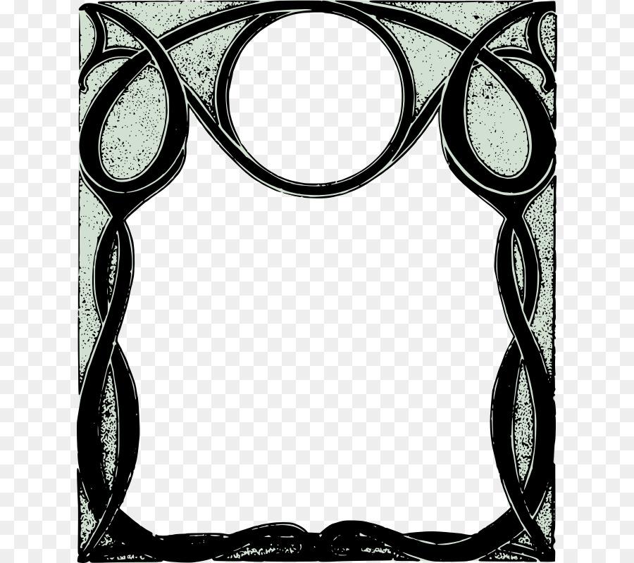 Bordes y Marcos Marcos artes Decorativas Adorno Clip art - Rizado ...