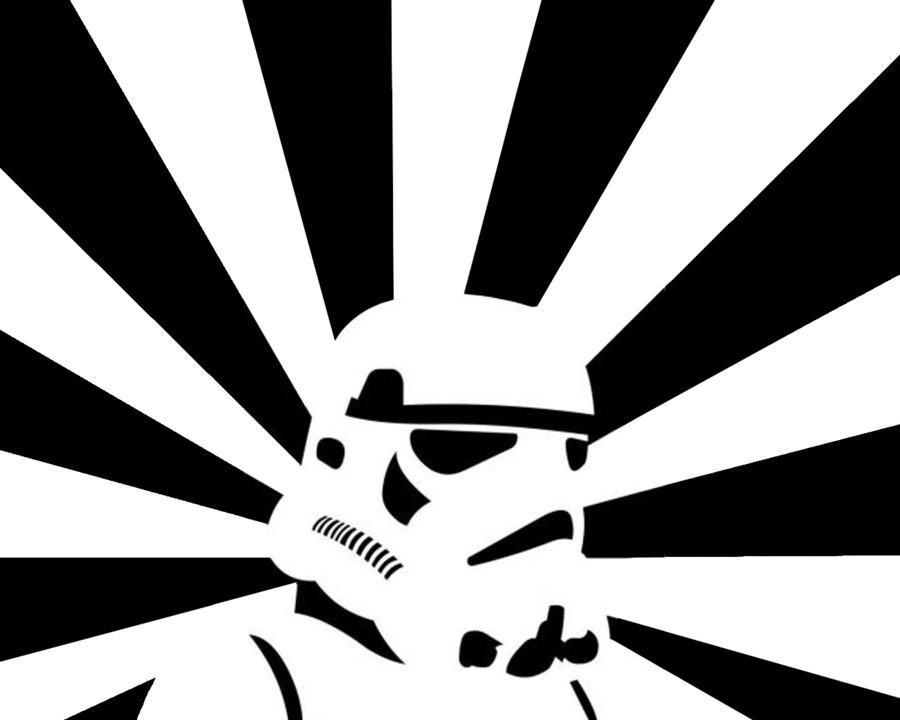 Anakin Skywalker, Stormtrooper, Star Wars, Symmetry, Monochrome Photography PNG