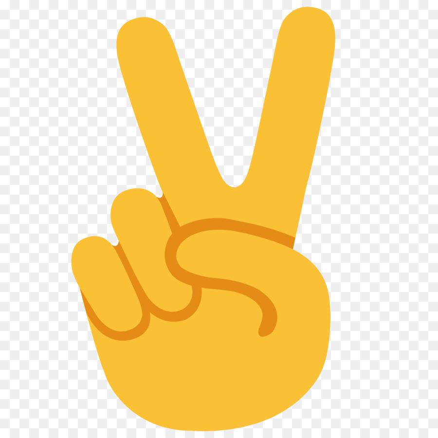 Emoji Peace Symbols V Sign Fingers Png Download 20002000 Free