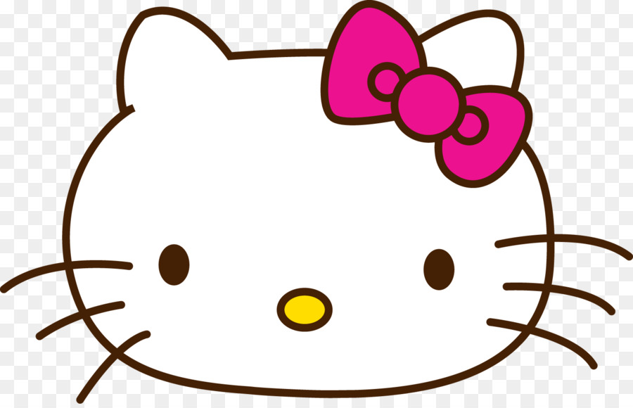 hello kitty drawing how to sketch hello png download 1500 956