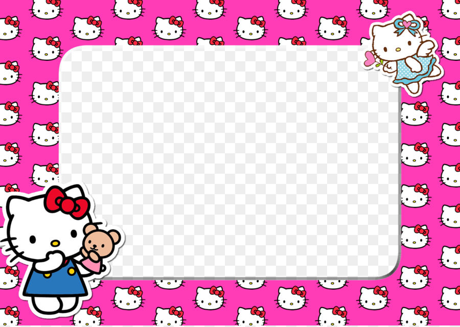 Hello Kitty Picture Frames Animation - hello png download - 1600 ...