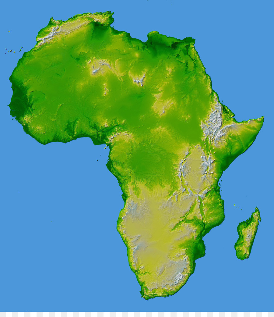 Africa Topographic Map World Map Elevation Africa Png Download - Topographic map free download