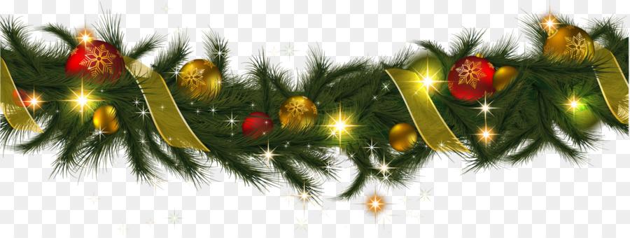 Girlande Weihnachten Kranz Clipart Weihnachten Png Herunterladen