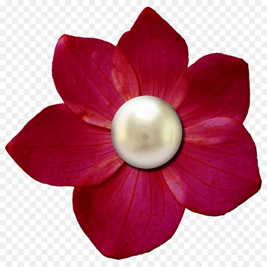Paper Digital scrapbooking Flower Embellishment - pearls png ...