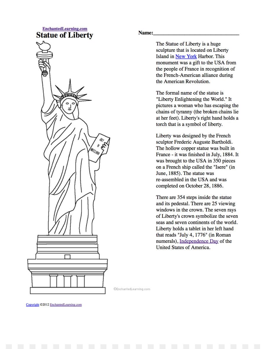 Estatua de la Libertad, El Nuevo Coloso libro para Colorear, Dibujo ...