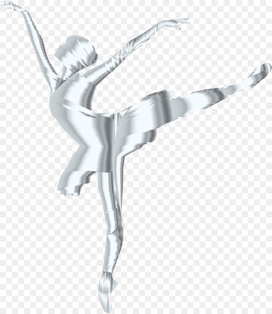 5676d6793 Ballet Dancer T-shirt Silhouette - silver png download - 1986 2290 ...