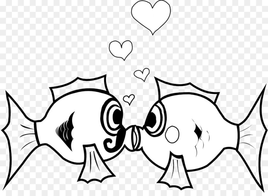 Kissing gourami Fish Clip art - Fish Bowl Coloring Sheet png ...