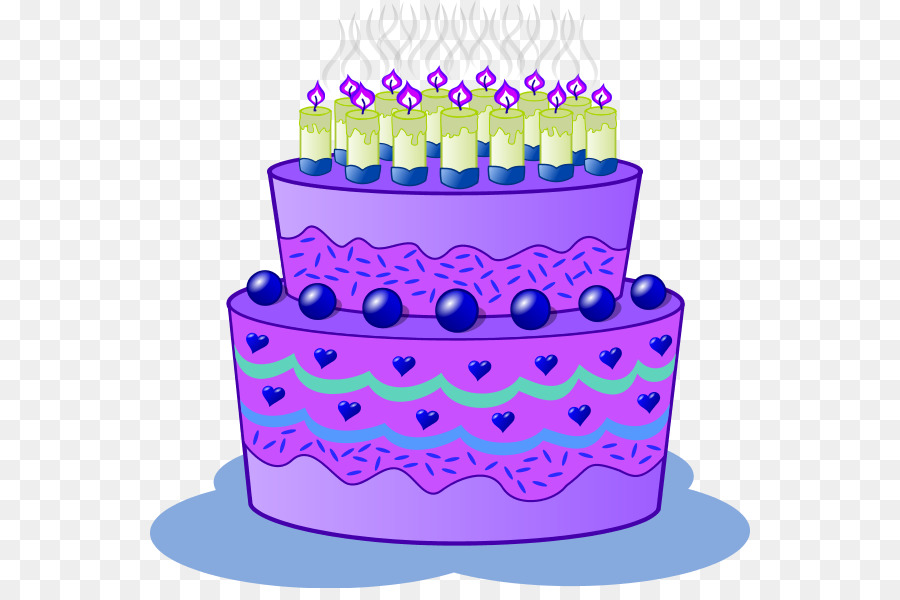 Birthday Cake Cupcake Wedding Cake Chocolate Cake Clip Art Purple