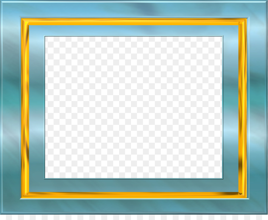 Picture Frames Window Blue Clip art - square frame png download ...