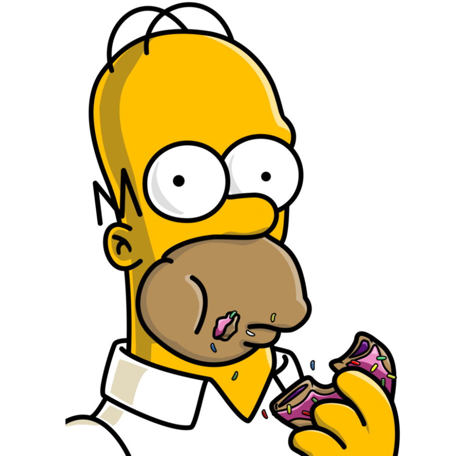 Homer Simpson Bart Moe Szyslak Donuts Desktop Wallpaper