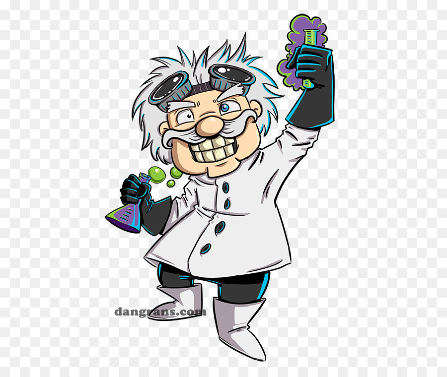 evil cartoon scientist - 900×760