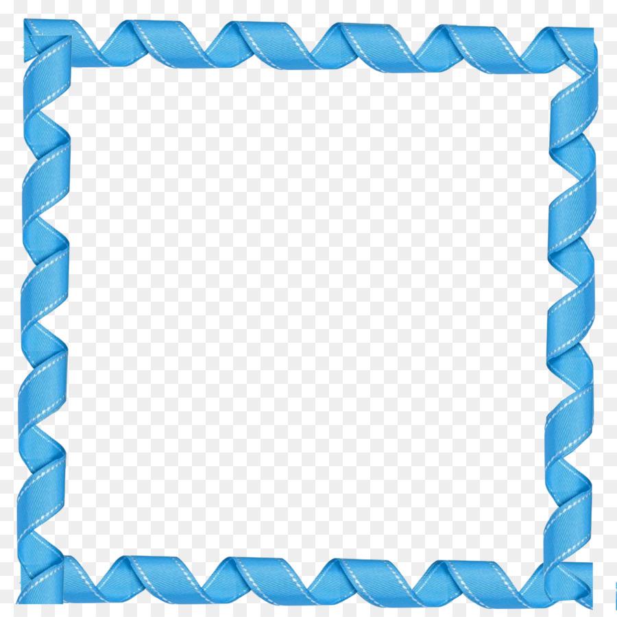 Picture Frames Blue Clip art - square frame png download ...