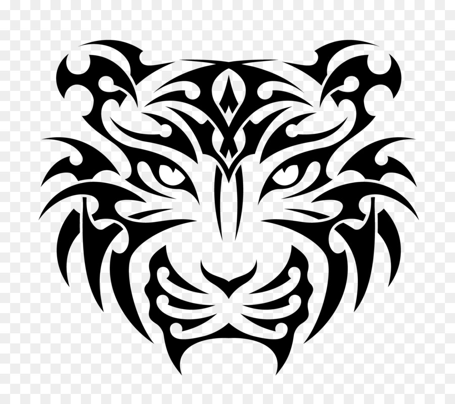 778abd5442354 Tiger T-shirt Hoodie Decal - tattoo png download - 1840*1616 - Free ...