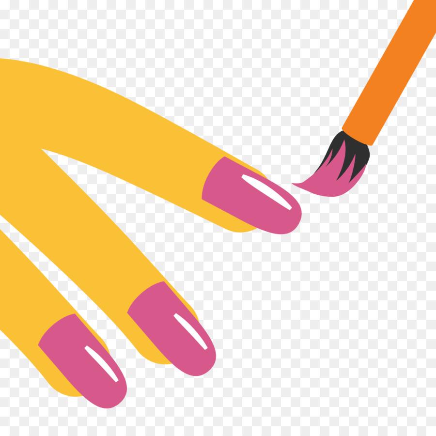 Nail Polish Emoji Nail art Manicure - Nail png download - 1024*1024 ...