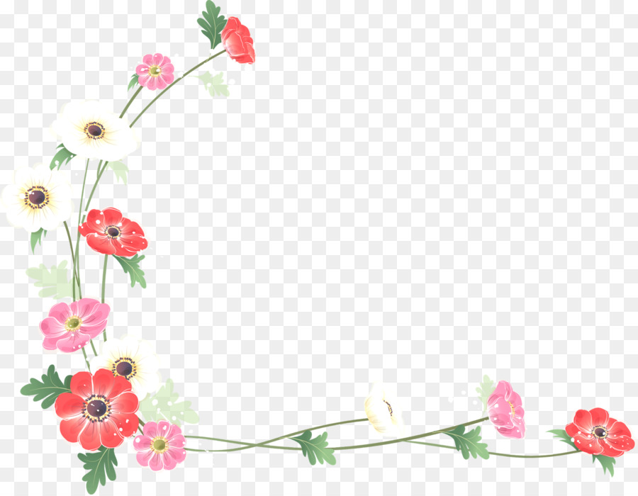 Borders And Frames Flower Watercolor Painting Clip Art