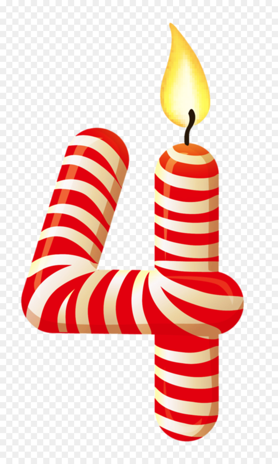 Birthday Candle Number Clip Art 1 Png Download 8001484 Free