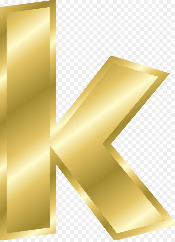 Letter case Alphabet K Gold - letters png download - 1753*2400 ...