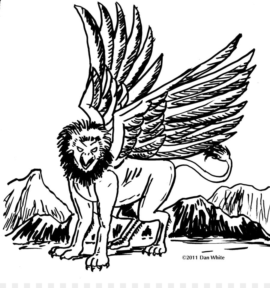 Dibujo para Colorear libro Griffin Hipogrifo criatura Legendaria ...