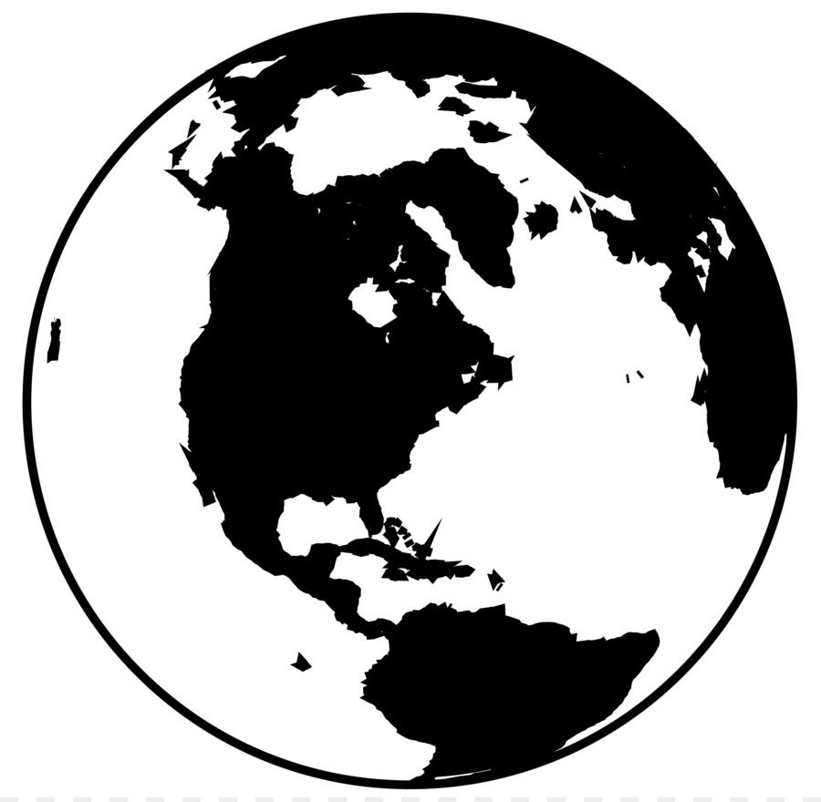 Awesome Globe World Black And White Clip Art   WORLD
