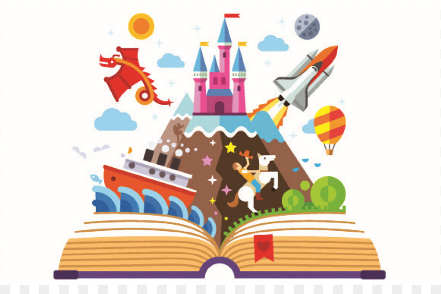 imagination book clip art reading png download 2223